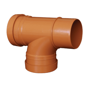 picture of a 110mm underground drainagedouble socket T Junction 87.5 degree