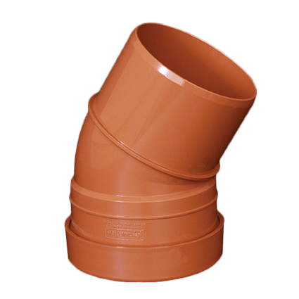 picture of a 110mm underground drainage bend 30 degree single socket