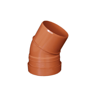 picture of a 110mm underground drainage bend 45 degree single socket