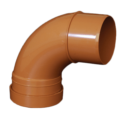 picture of a 110mm underground drainage bend 87.5 degree single socket