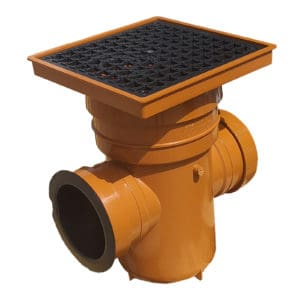 product picture of Underground drainage pipe sewer bottle gully large with removable trap and square lid