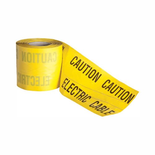 Electric Caution Marker Tape 150mm x 365m