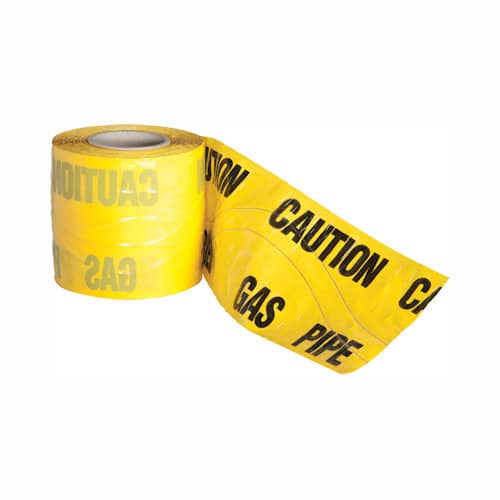 gas caution marker tape