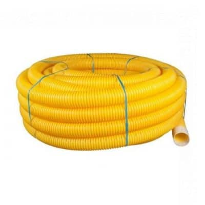 Yellow Twinwall Gas Ducting Coils - Perforated and Unperforated
