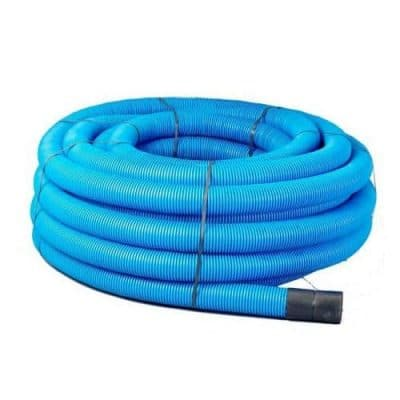 Blue Twin Wall Water Duct Pipe x50m Coils