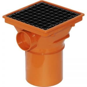 110mm square hopper spigot
