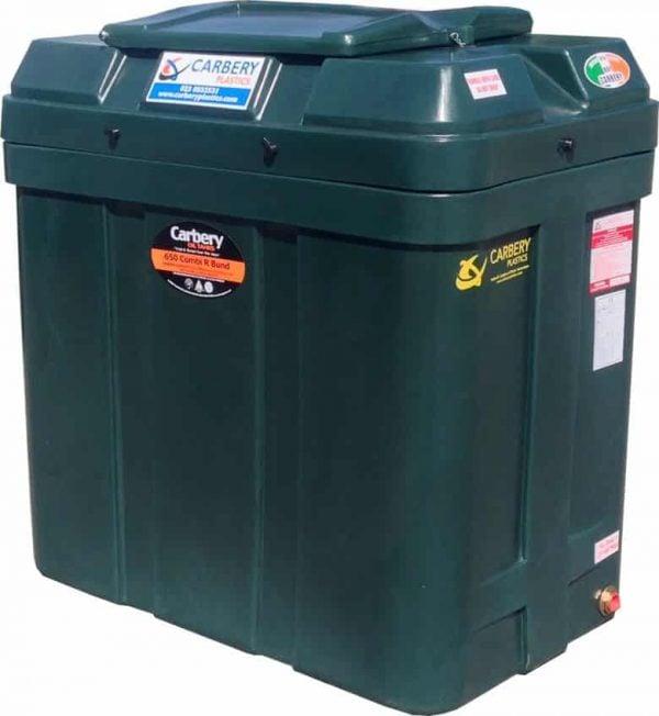 carbery bunded slimline oil tank 650l