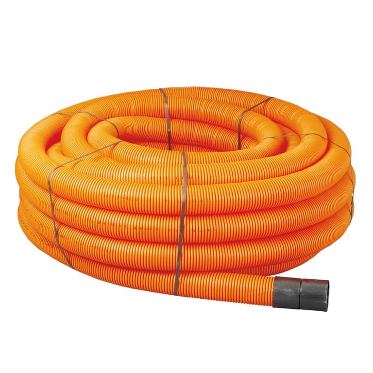 Orange Twinwall Street Lighting Duct Pipes x50m Coils