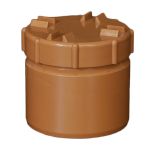 picture of a 110mm underground drainage screwed access plug cap