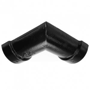 100mm Half Round Cast Iron Double Socket 90 Degree Angle