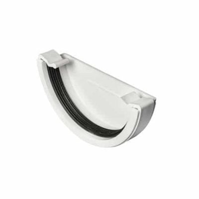 white-half-round-guttering-external-stop-end