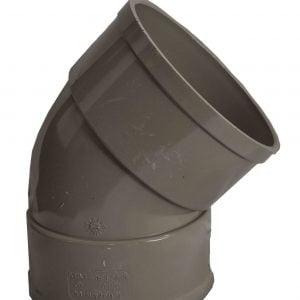 110mm Solvent Soil Double Socket 135 Degree Bend