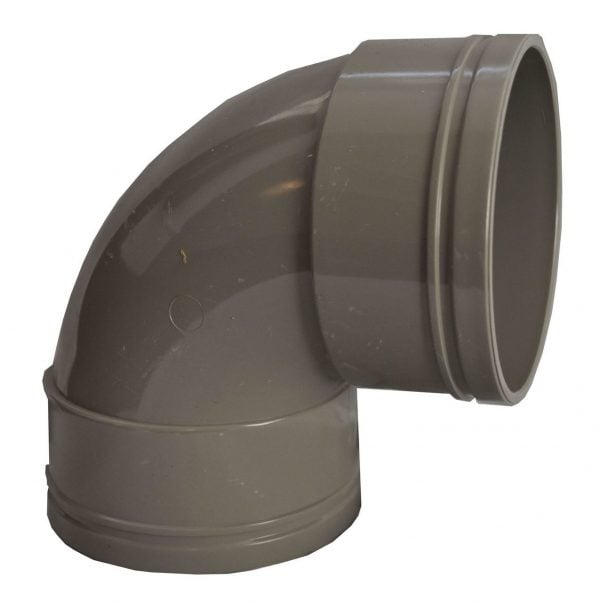 110mm Solvent Soil Double Socket 92.5 Degree Bend
