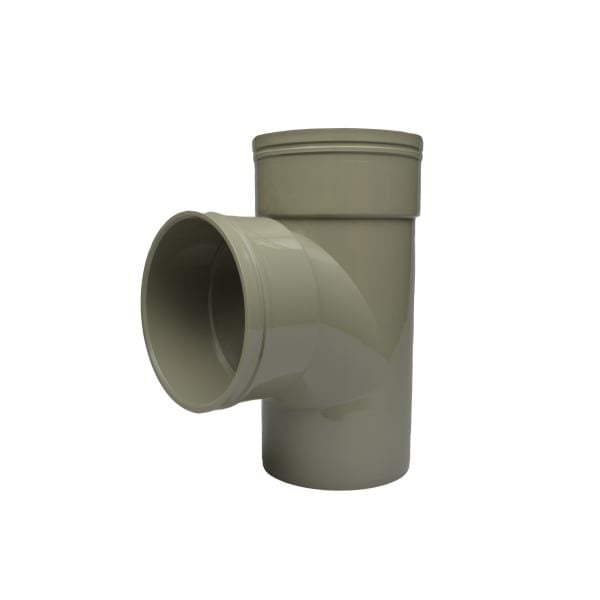 110mm Solvent Soil 92.5 Degree Double Socket Junction
