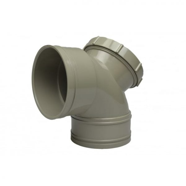 110mm Solvent Soil Double Socket 92.5 Degree Access Bend