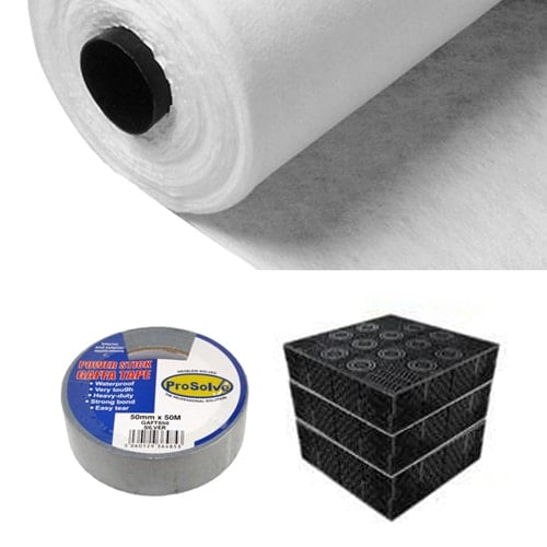 soakaway crate kit 1m3 including geotextile terram and tape