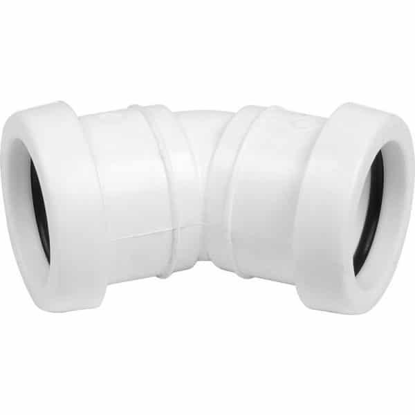 Push Fit Waste 45 Degree Obtuse Bend 32/40mm