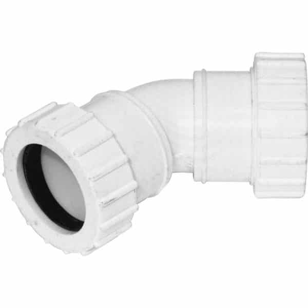 Compression Waste 135 degree bend white