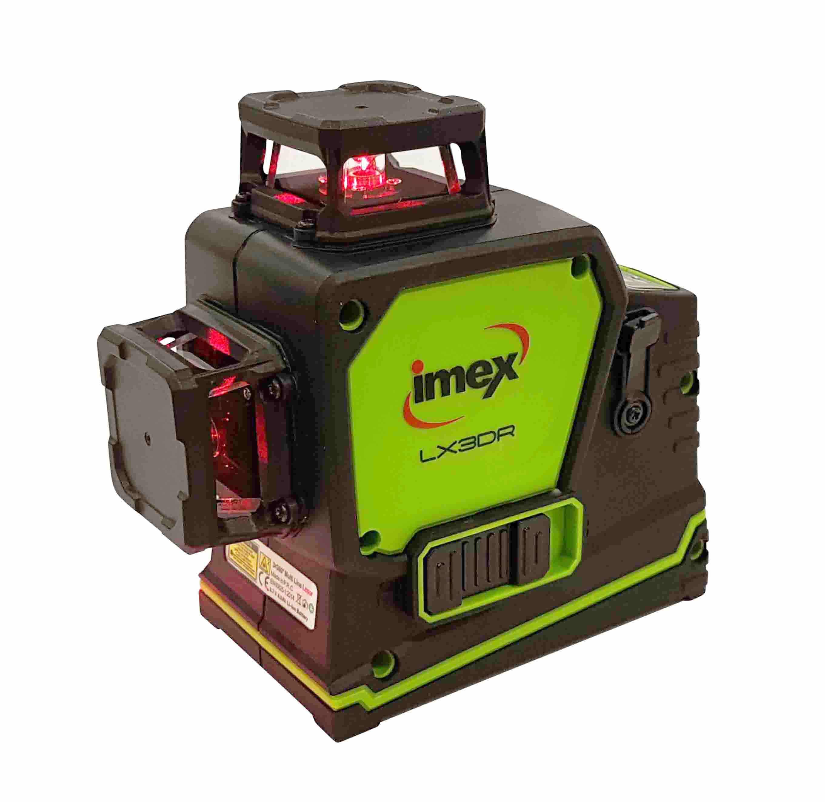 IMEX LX3DR 3 Dimensional Line Laser Level With Red/Green Beam