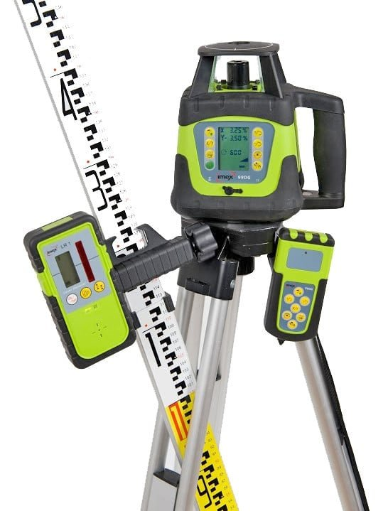 Imex 99DG Rotary Laser Level With Red Beam - FULL KIT image 1