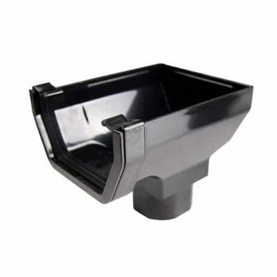 114mm Square Line Guttering Stop End Outlet
