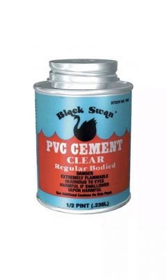 black swan pvc solvent cement for waste or soil pipe