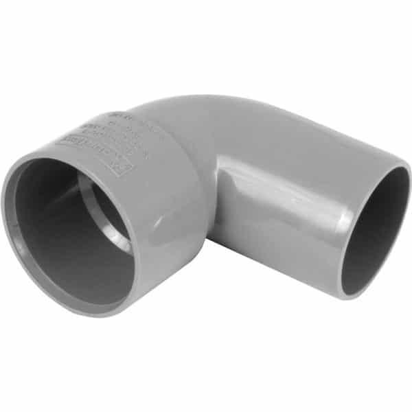 solvent waste 90 degree spigot grey