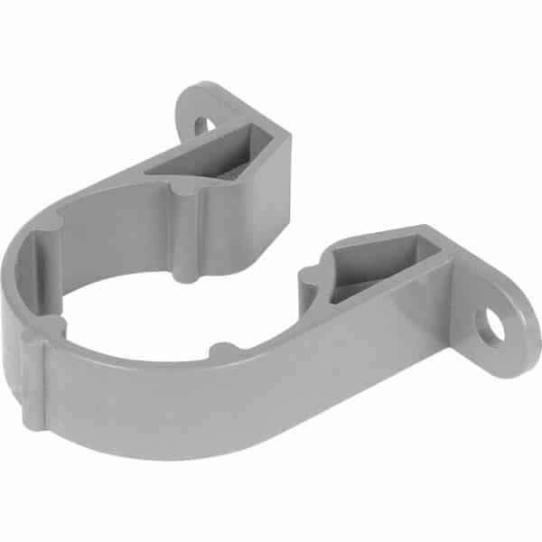 solvent waste pipe clip grey