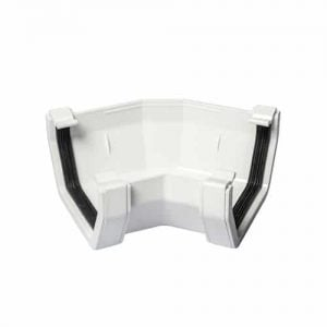 114mm Square Line Guttering 135 Degree Angle