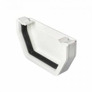 114mm Square Line Guttering External Stop End