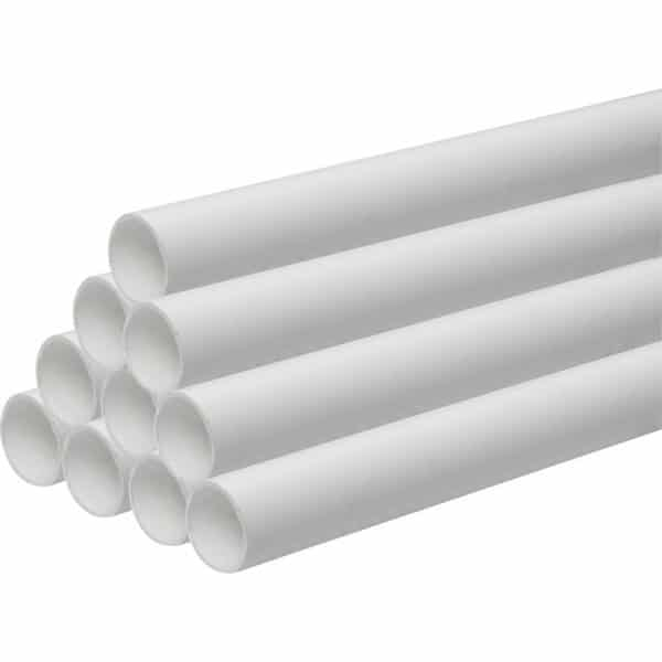 white waste pipes