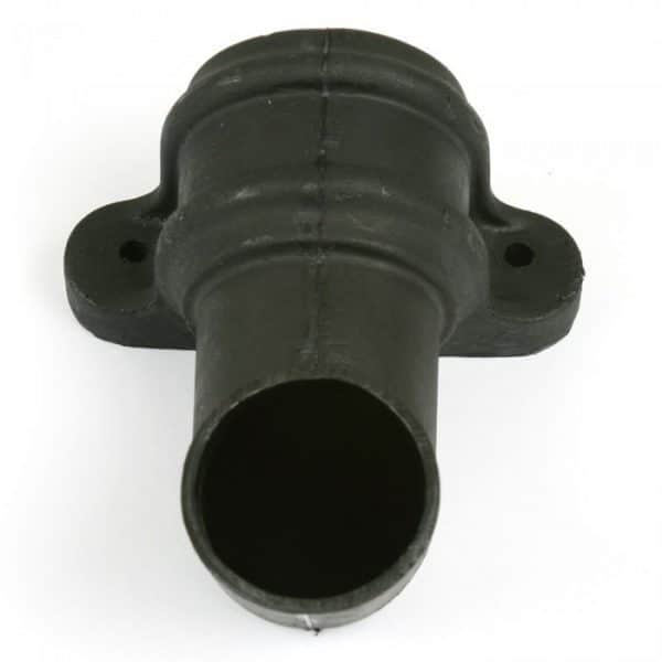 68mm Cascade Cast Iron Effect Half Round Down Pipe Shoe With Lugs