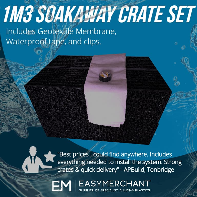 Soakaway Crate Kits - Includes Geotextile and Tape!