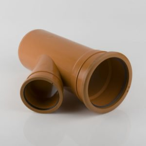picture of a 160-110mm underground drainage double socket Y reducing junction
