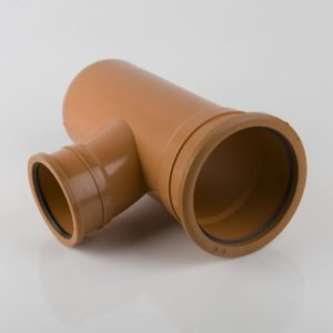 picture of a 160-110mm underground drainage double socket t reducing junction