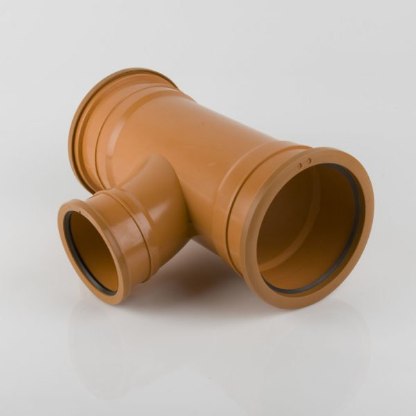 picture of a 160-110mm underground drainage triple socket t reducing junction