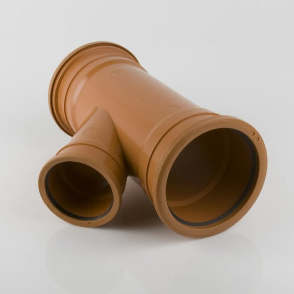 picture of a 160-110mm underground drainage triple socket y reducing junction