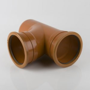 picture of a 160mm underground drainage double socket t junction