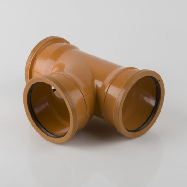 picture of a 160mm underground drainage triple socket t junction