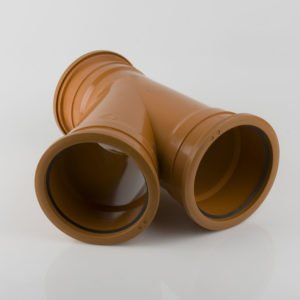 picture of a 160mm underground drainage triple socket y junction