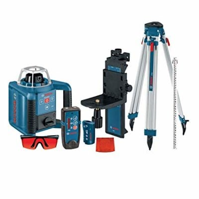 Picture of the Bosch Self-Levelling Rotary Laser with Layout Beam Kit with Receiver for use on the blog post - best laser level on EasyMerchant