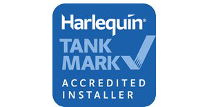Harlequin oil tanks approved installer logo