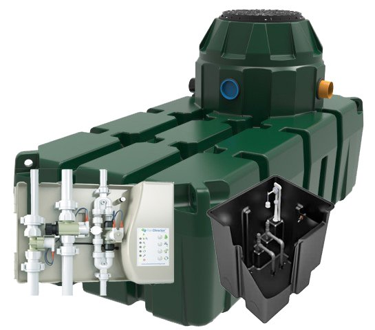 picture of Hydrostore HHG 1500 litre Home Harvest Gravity rainwater harvesting system harlequin