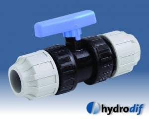 product picture for Compression valve stop tap for mdpe