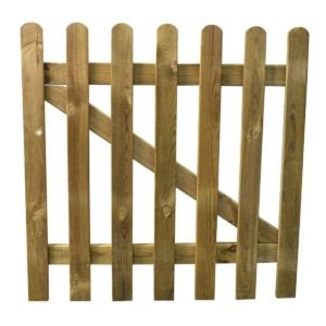 product picture of picket fencing gate