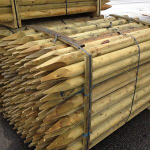 Product picture of round wooden fence posts pallet