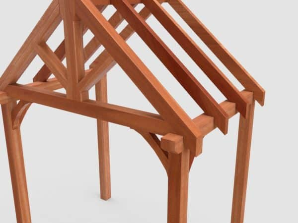 product picture of Large Four Post Air Dried Green Oak Porch Kit