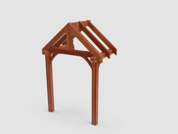 product picture of Wall Mounted and Two Post Support Air Dried Green Oak Porch Kit