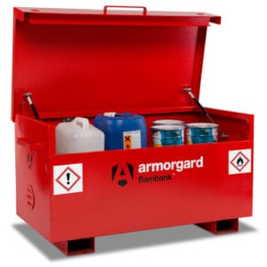 product picture of armorgard flambank fb2 site box tool storage open with tools