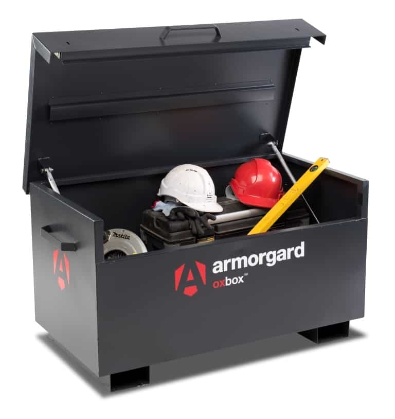 product picture of armorgard ox1 site box open with tools